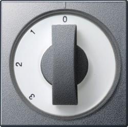 Накладка на поворотный выключатель Gira SYSTEM 55, алюминий, 066926