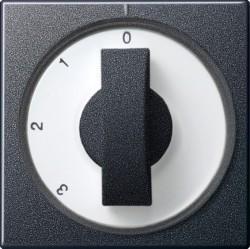 Накладка на поворотный выключатель Gira SYSTEM 55, антрацит, 066928