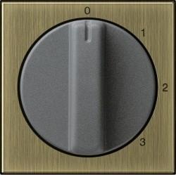 Накладка на поворотный выключатель Gira SYSTEM 55, бронза, 0669603