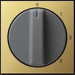 Накладка на поворотный выключатель Gira SYSTEM 55, латунь, 0669604
