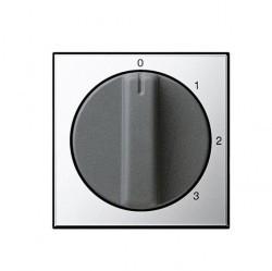 Накладка на поворотный выключатель Gira SYSTEM 55, хром, 0669605