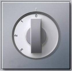 Накладка на поворотный выключатель Gira TX 44, алюминий, 066965