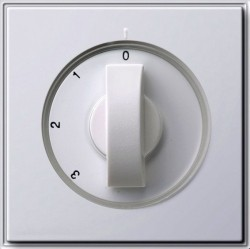 Накладка на поворотный выключатель Gira TX 44, белый, 066966