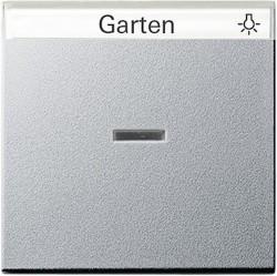 Клавиша с линзой Gira SYSTEM 55, алюминий, 067026