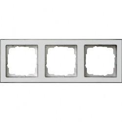 Рамка 3 поста Gira E2, белый матовый, 071322
