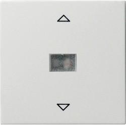Клавиша для жалюзийного выключателя Gira SYSTEM 55, белый глянцевый, 082003