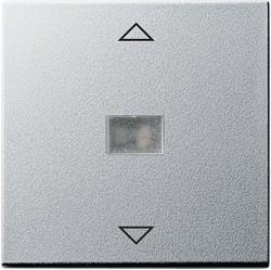 Клавиша для жалюзийного выключателя Gira SYSTEM 55, алюминий, 082026