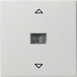 Клавиша для жалюзийного выключателя Gira SYSTEM 55, белый матовый, 082027
