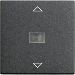 Клавиша для жалюзийного выключателя Gira SYSTEM 55, антрацит, 082028
