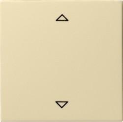 Клавиша для жалюзийного выключателя Gira SYSTEM 55, кремовый глянцевый, 082201