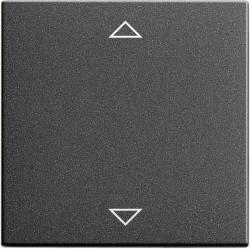 Клавиша для жалюзийного выключателя Gira SYSTEM 55, антрацит, 082228