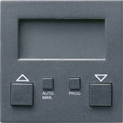 Накладка на устройство управления жалюзи Gira SYSTEM 55, антрацит, 084128