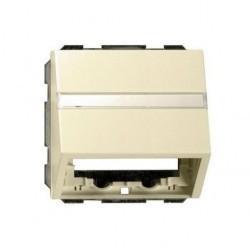Накладка на вывод кабеля Gira SYSTEM 55, кремовый глянцевый, 087001