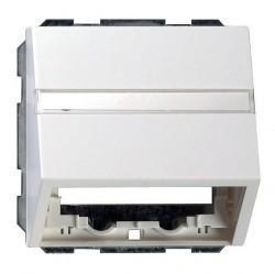 Накладка на вывод кабеля Gira SYSTEM 55, белый глянцевый, 087003