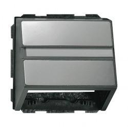 Накладка на розетку информационную Gira EDELSTAHL, нержавеющая сталь, 087020