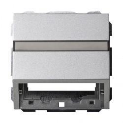 Накладка на розетку информационную Gira SYSTEM 55, алюминий, 087026