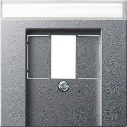 Накладка на аудиорозетку Gira SYSTEM 55, алюминий, 087626
