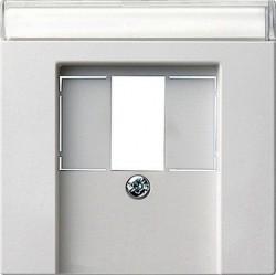 Накладка на аудиорозетку Gira SYSTEM 55, белый матовый, 087627