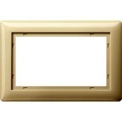 Рамка 1,5 поста без перегородки Gira SYSTEM 55, кремовый глянцевый, 100101