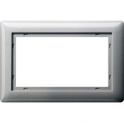 Рамка 1,5 поста без перегородки Gira SYSTEM 55, белый глянцевый, 100103