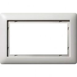 Рамка 1,5 поста без перегородки Gira SYSTEM 55, белый матовый, 100104