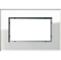 Рамка 1,5 поста без перегородки Gira ESPRIT, белое стекло, 100112