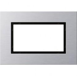 Рамка 1,5 поста без перегородки Gira ESPRIT, алюминий, 100117