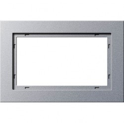 Рамка 1,5 поста без перегородки Gira E2, алюминий, 100125