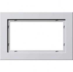 Рамка 1,5 поста без перегородки Gira E2, белый глянцевый, 100129