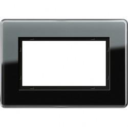Рамка 1,5 поста без перегородки Gira ESPRIT, черное стекло, 1001505