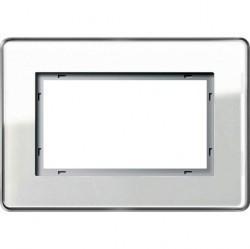 Рамка 1,5 поста без перегородки Gira ESPRIT, белое стекло, 1001512