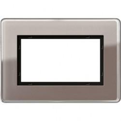 Рамка 1,5 поста без перегородки Gira ESPRIT, бежевый дымчатый, 1001522