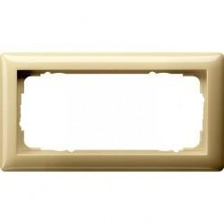 Рамка 2 поста Gira STANDARD 55, кремовый глянцевый, 100201