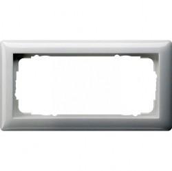 Рамка 2 поста Gira STANDARD 55, белый глянцевый, 100203