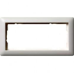 Рамка 2 поста Gira STANDARD 55, белый матовый, 100204