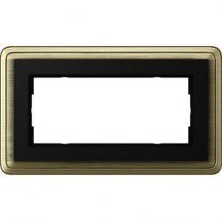 Рамка 2 поста Gira CLASSIX, бронзовый, 1002622