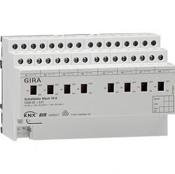 Реле InstabusKNX/EIB, 8-канальное, с ручным управлением