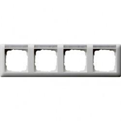 Рамка 4 поста Gira STANDARD 55, горизонтальная, белый матовый, 109427