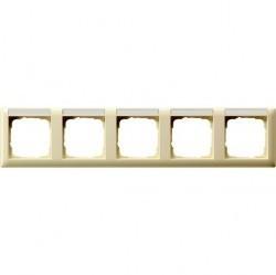 Рамка 5 постов Gira STANDARD 55, горизонтальная, кремовый глянцевый, 109501