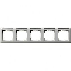 Рамка 5 постов Gira STANDARD 55, горизонтальная, белый глянцевый, 109503
