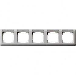 Рамка 5 постов Gira STANDARD 55, горизонтальная, белый матовый, 109527
