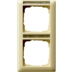 Рамка 2 поста Gira EVENT, вертикальная, кремовый глянцевый, 110201