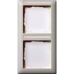 Рамка 2 поста Gira EVENT, вертикальная, белый глянцевый, 110203