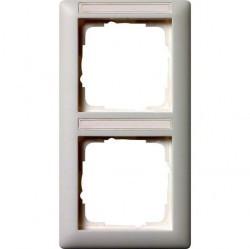 Рамка 2 поста Gira EVENT, вертикальная, белый, 110227
