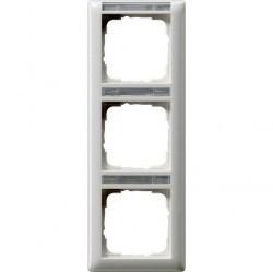 Рамка 3 поста Gira EVENT, вертикальная, белый глянцевый, 110303