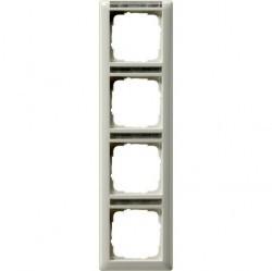 Рамка 4 поста Gira EVENT, вертикальная, белый глянцевый, 111403