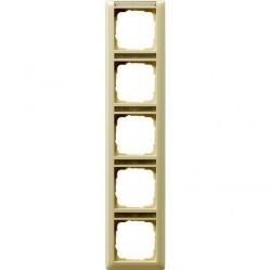 Рамка 5 постов Gira STANDARD 55, вертикальная, кремовый глянцевый, 111501