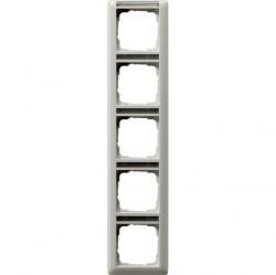 Рамка 5 постов Gira STANDARD 55, вертикальная, белый глянцевый, 111503
