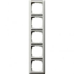 Рамка 5 постов Gira STANDARD 55, вертикальная, белый матовый, 111527