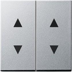 Клавиша для жалюзийного выключателя Gira SYSTEM 55, алюминий, 115026